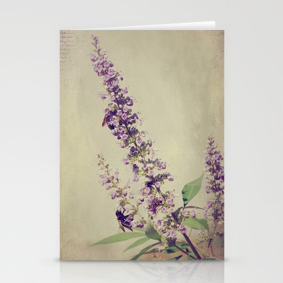 Texas Lilac and Bees Stationery Cards