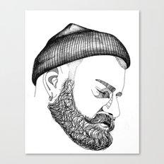 CAP & BEARD Canvas Print