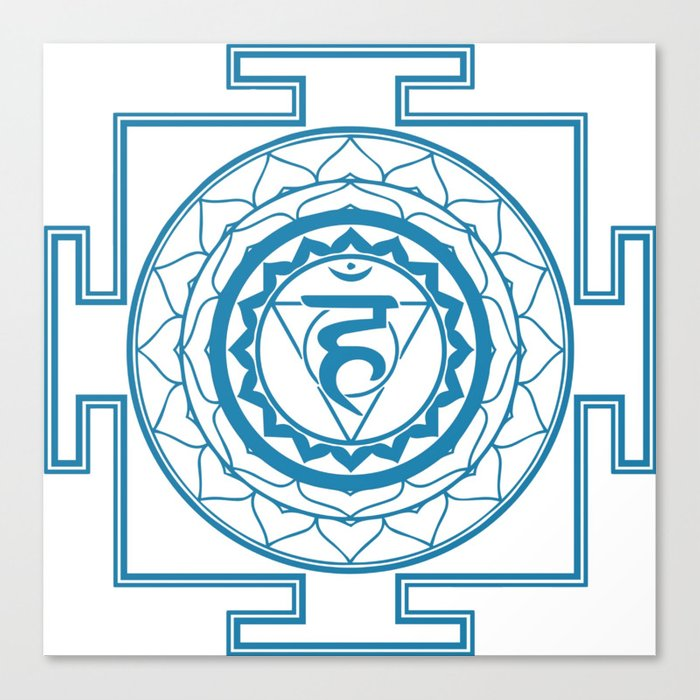 Sri Yantra Throat Chakra Canvas Print