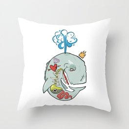 Whale's Belly Throw Pillow