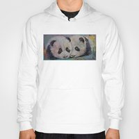 pandas Hoodies featuring Baby Pandas by Michael Creese