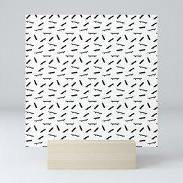 Skate pattern Mini Art Print