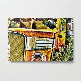 Old abandoned Truck Metal Print