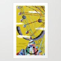 Let's Go On A Ferries Wheel! Art Print