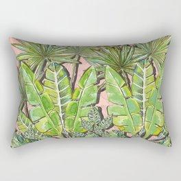 Rose Jungle_Hand Painted watercolour & ink Rectangular Pillow