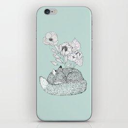 Floral Fox 1 iPhone Skin