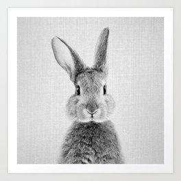 Rabbit - Black & White Art Print