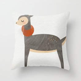 Snotty Deer Throw Pillow