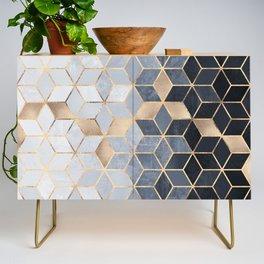 Soft Blue Gradient Cubes Credenza