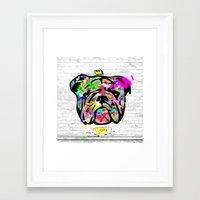 bulldog Framed Art Prints featuring Bulldog by morganPASLIER