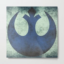 Rebel Grunge Emblem | Star War Art Metal Print