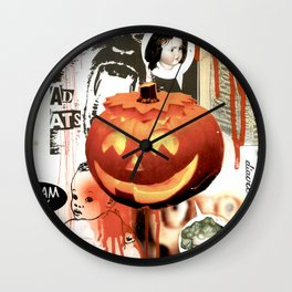 COLLAGE: Halloween Wall Clock