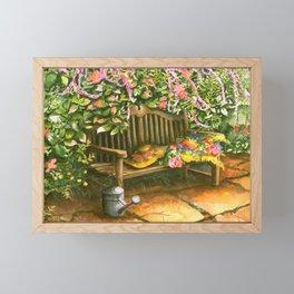 Garden Bench Framed Mini Art Print