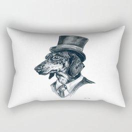 Dapper Dachshund Rectangular Pillow