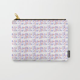 USA 6-Usa,america,united states of,us,stars and strips,patriotic,patriot,united states,american Carry-All Pouch