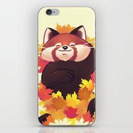 Relaxing Red Panda iPhone Skin