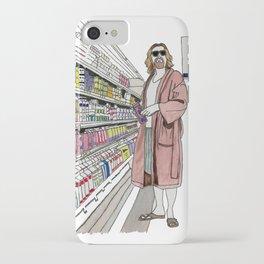 Jeffrey Lebowski and Milk. iPhone Case