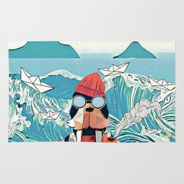 Walrus and the paper boats Rug