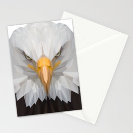 American Eagle Portrait Lowpoly Art Illustration Stationery Cards