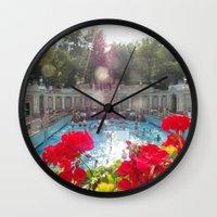 budapest Wall Clocks featuring Budapest Bath by Snapshot