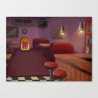 bar Canvas Prints featuring Bar by Alyssa Leandra Dalangin