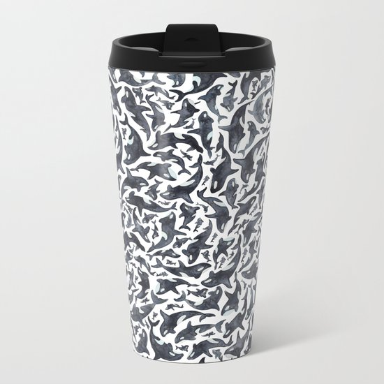 Whale, Orca Metal Travel Mug