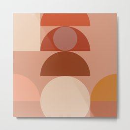 Geometric terracotta VII Metal Print