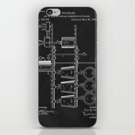 Beer Whisky Still Distillery Patent iPhone Skin