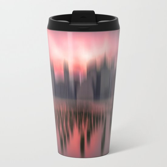 New city red Metal Travel Mug