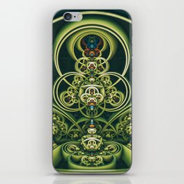 Time Shell IV. Green Abstract Geometry iPhone Skin