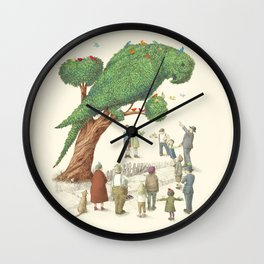 The Parrot Tree Wall Clock