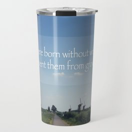 Kinderdijk Netherlands Travel Photography in Stock 6 x 10 Fine Art Photography Vintage Retro Travel Mug