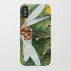 Amber Dragonfly iPhone X Slim Case