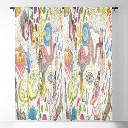 maximalism maximalist pastel pencil surreal fantasy Blackout Curtain