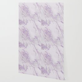 Marble Love Purple Metallic Wallpaper