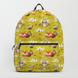 Sleeping Woodland Animals Backpack