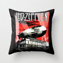Red Zeppelin Throw Pillow
