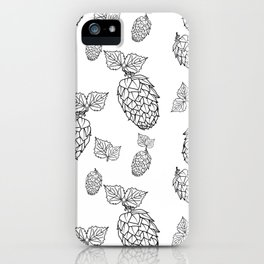 Hops pattern with leafs iPhone Case