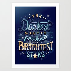 Brightest Stars Art Print