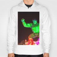 hulk Hoodies featuring Hulk by Roser Arques