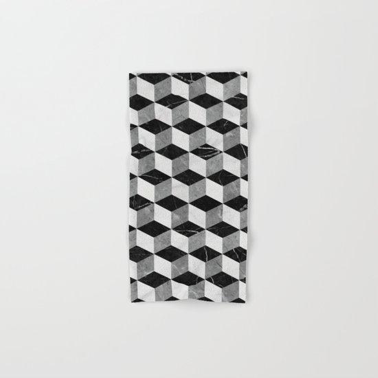 Marble Cubes  Hand & Bath Towel