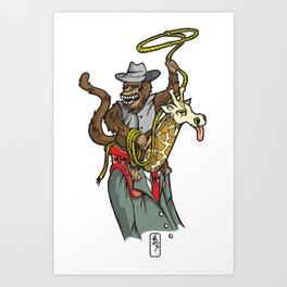 Corporate Cowboy Art Print