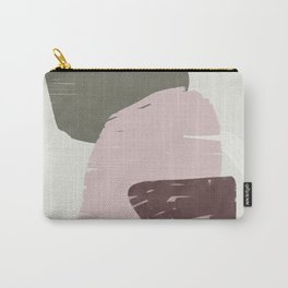 Rose modern organic shapes Carry-All Pouch