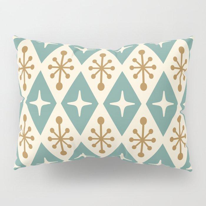 Mid Century Modern Atomic Triangle Pattern 102 Pillow Sham
