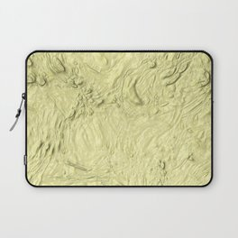 very thick painted, soft yellow Laptop Sleeve