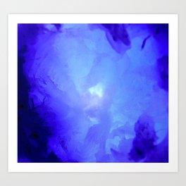 Textures (Blue version) Art Print