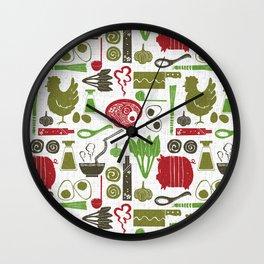 Let's enjoy cooking ramen noodle white Wall Clock