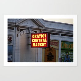 Gratiot Central Market Art Print