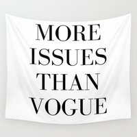 vogue Wall Tapestries featuring #VOGUE by YUNG-GOD