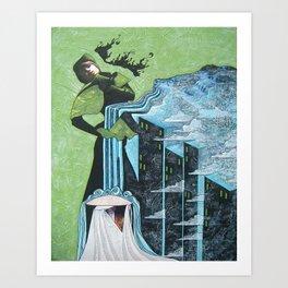 Cyperus alternifolius Art Print